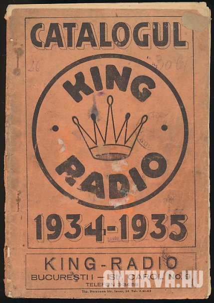 Catalogul King Radio 1934-1935