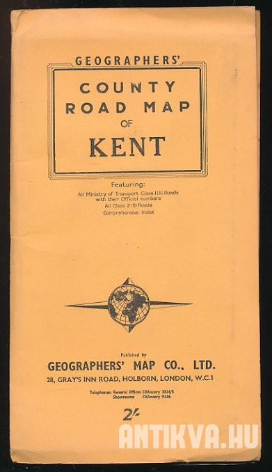 County Road Map of Kent