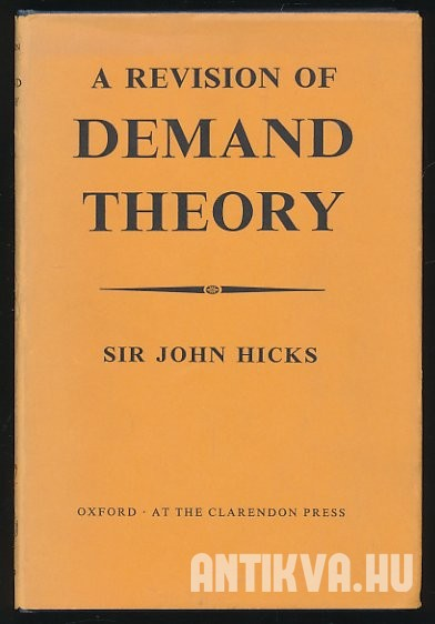 A Revision of Demand Theory