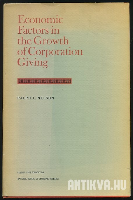Economic Factors in the Growth of Corporation Giving