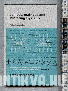Lambda-matrices and Vibrating Systems