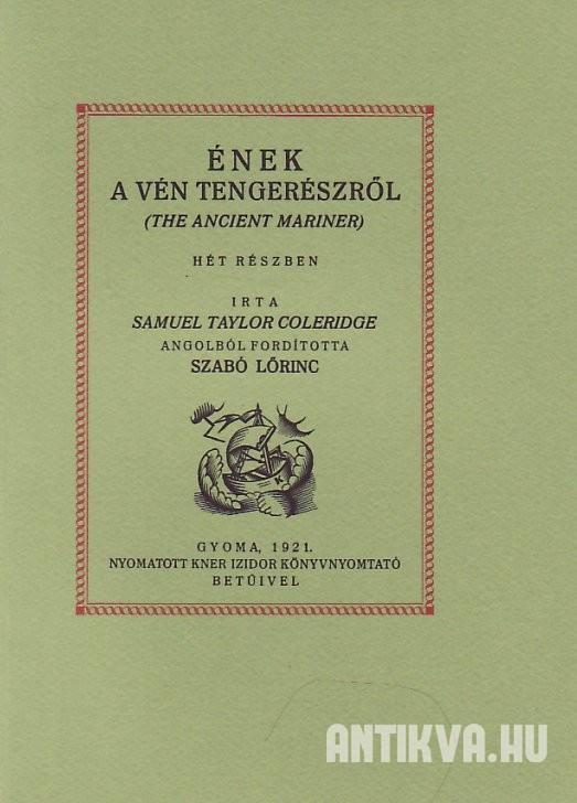 Ének a vén tengerészről (The Ancient Mariner) [Reprint]
