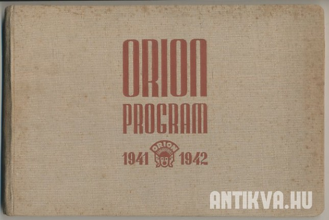 Orion Program 1941-1942