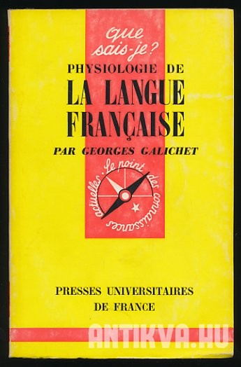 Physiologie de la langue francaise