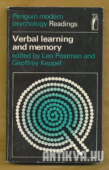 Verbal Learning and Memory. Selected Readings
