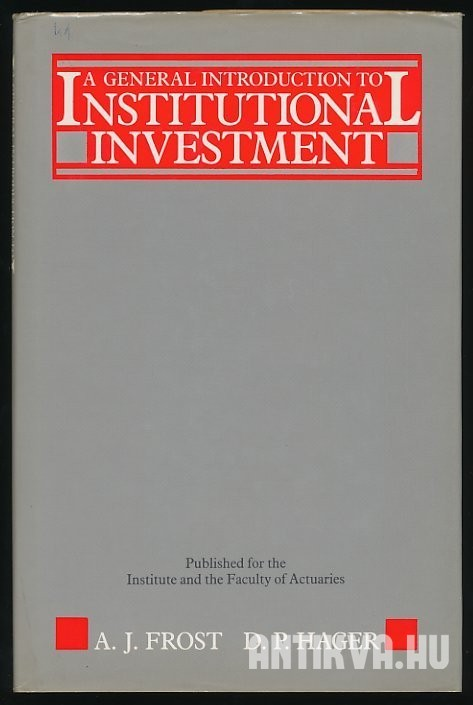 A General Introduction to Institutional Investment