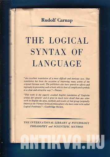 The Logical Syntax of Language