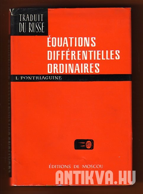 Équations Differentielles Ordiaires