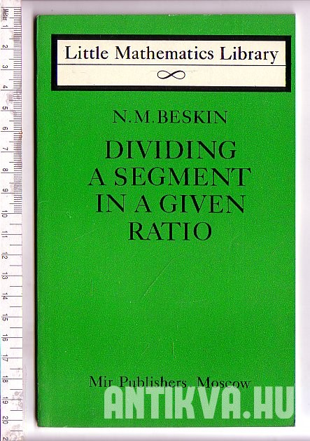 Dividing a Segment in a Given Ratio