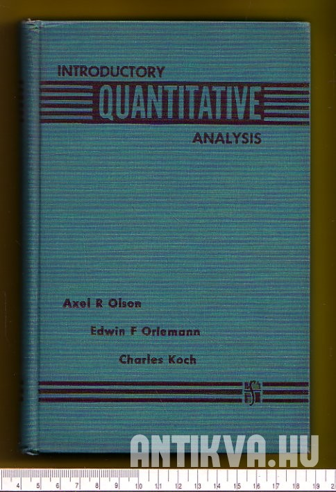 Introductory Quantitative Analysis