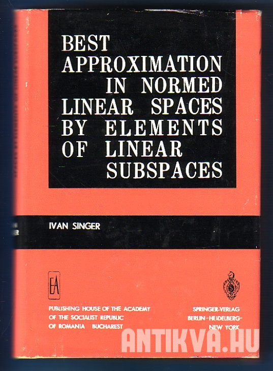 Best Approximation in Normed Linear Spaces by Elements of Linear Subspaces